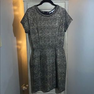 Collective Concepts Black and Gold Sparkle Dress L